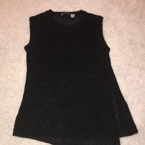 Acrobat linen blend sleeveless knot top